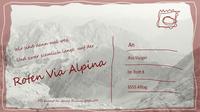 Wege via alpina rot postkarte
