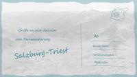 Wege salzburg triest postkarte