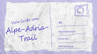 Wege alpe adria trail postkarte