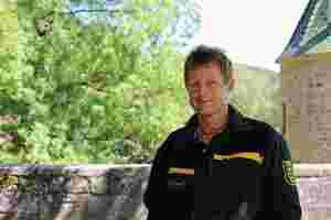 Zu sehen ist Mathias Allgäuer, Geschäftsführer des Naturpark Schönbuch.